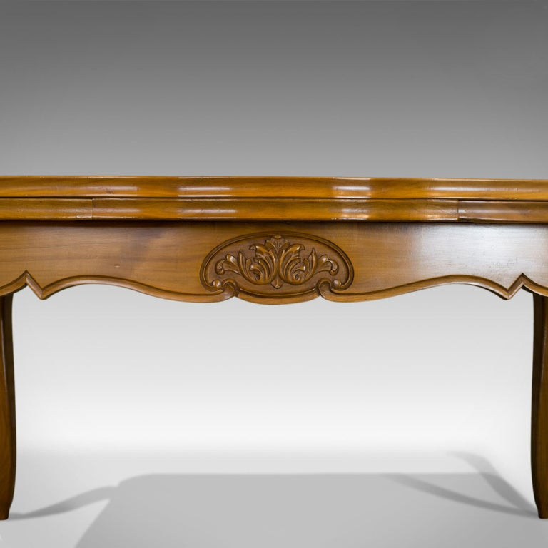 20th Century French, Draw Leaf Dining Table, Beech, Extending, Louis XV Revival, circa 1930 For Sale