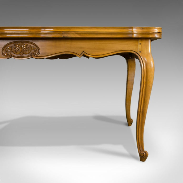 French, Draw Leaf Dining Table, Beech, Extending, Louis XV Revival, circa 1930 For Sale 1