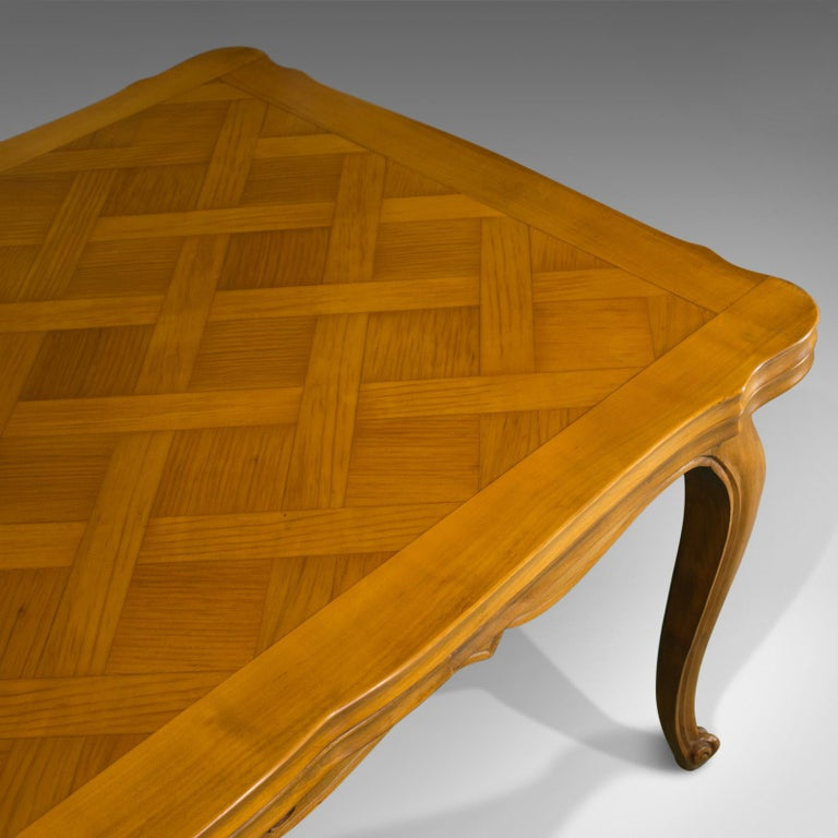 French, Draw Leaf Dining Table, Beech, Extending, Louis XV Revival, circa 1930 For Sale 3