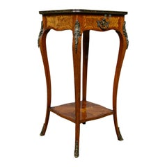 French Antique Étagère, Kingwood Side Table, Nightstand, Druce & Co., circa 1870