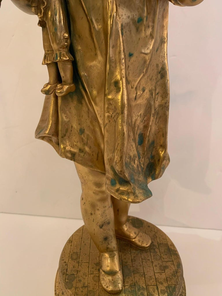 French Antique Figurative Sculpture of Girl by Charles Masse For Sale 10