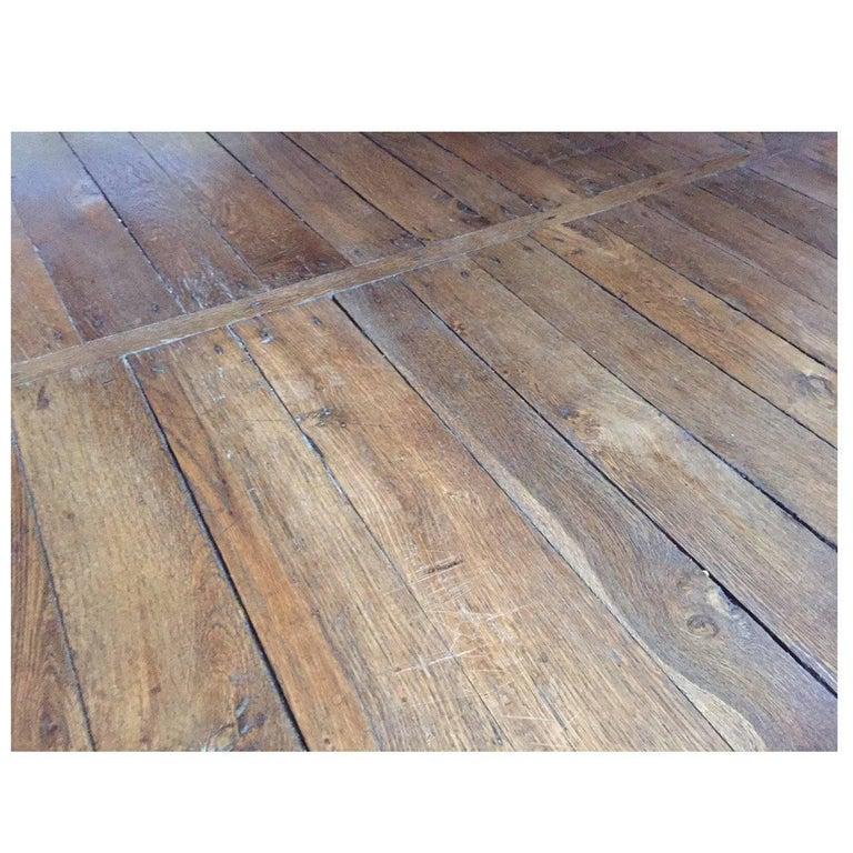 French Antique Flooring Wood Oak Original Floor 17th 18th Century