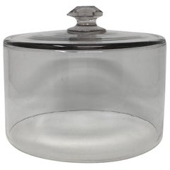 French Antique Glass Dome, Cloche with Solid Glass Knob Handle