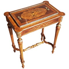French Antique Jardiniere with Inlays