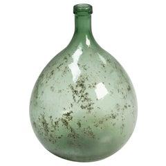 French Antique Large Demijohn Glass Bottle