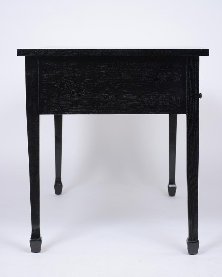 French Antique Louis XVI Ebonized Desk For Sale 2