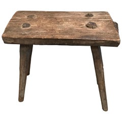 French Antique Milking Stool