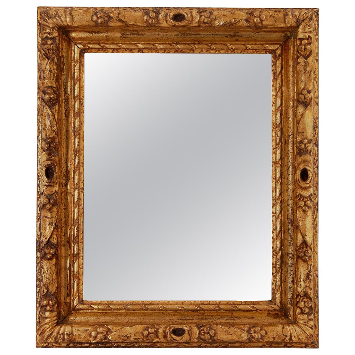 French Antique Mirror Giltwood, circa 1930