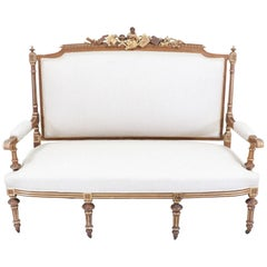 French Antique Neoclassical Settee