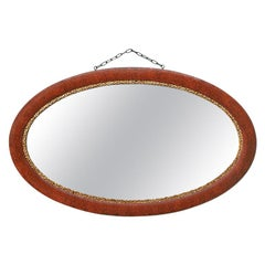 French Antique Oval Mirror, circa 1930