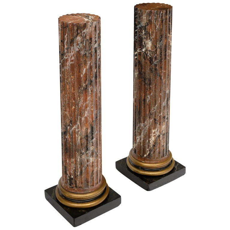 French Antique Painted Columns For Sale