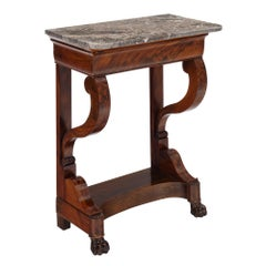 French Antique Restauration Period Console Table