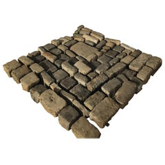 French Antique Solid Cobble Stone from 17th Century, Paris, France