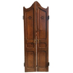 French Antique Solid Wood Door, 19th Century, France