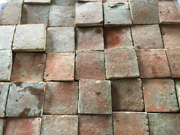 French Antique Square Terracotta from France, 18th Century For Sale 4