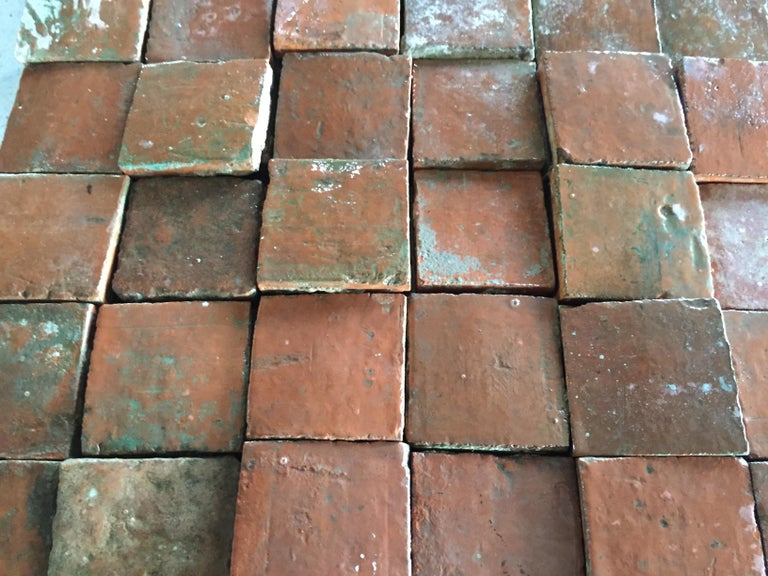 French Antique Square Terracotta from France, 18th Century For Sale 1
