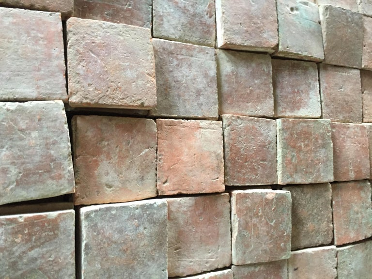 French Antique Square Terracotta from France, 18th Century For Sale 2