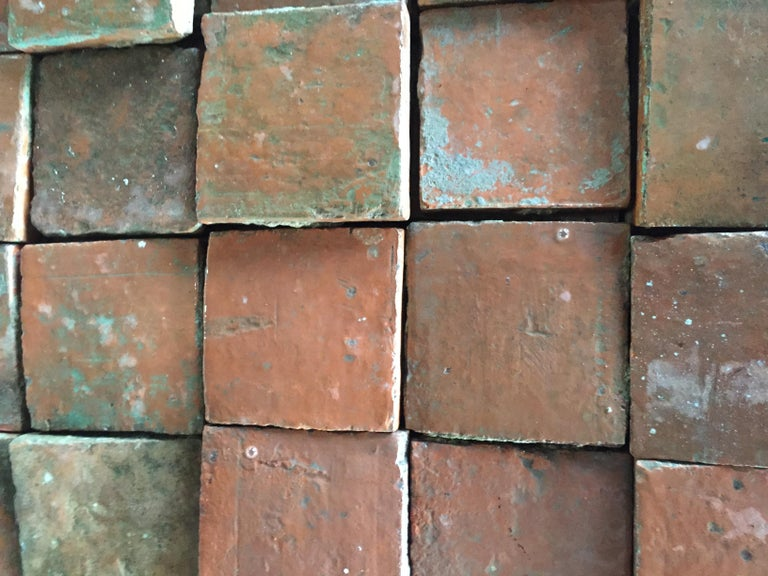 French Antique Square Terracotta from France, 18th Century For Sale 3
