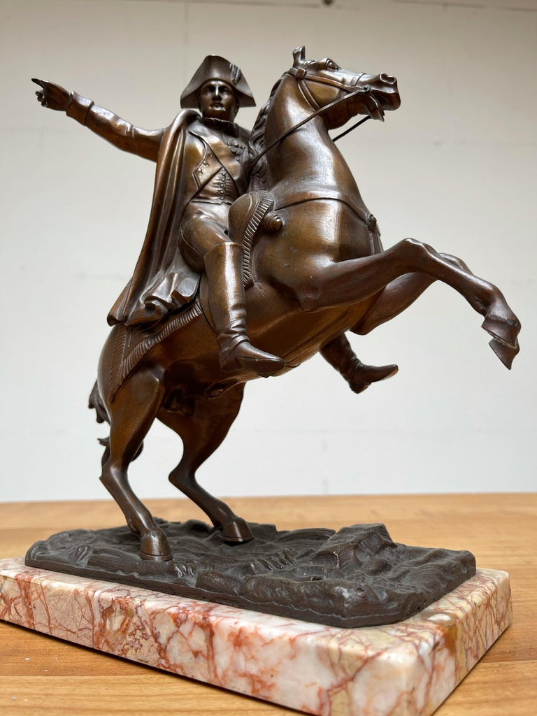 Handcrafted. Practical size sculpture of imperator Napoleon Bonaparte.  If you are a collector of good quality antiques having to do with (French) historical figures then this rare and wonderful sculpture of Napoleon Bonaparte could be perfect for
