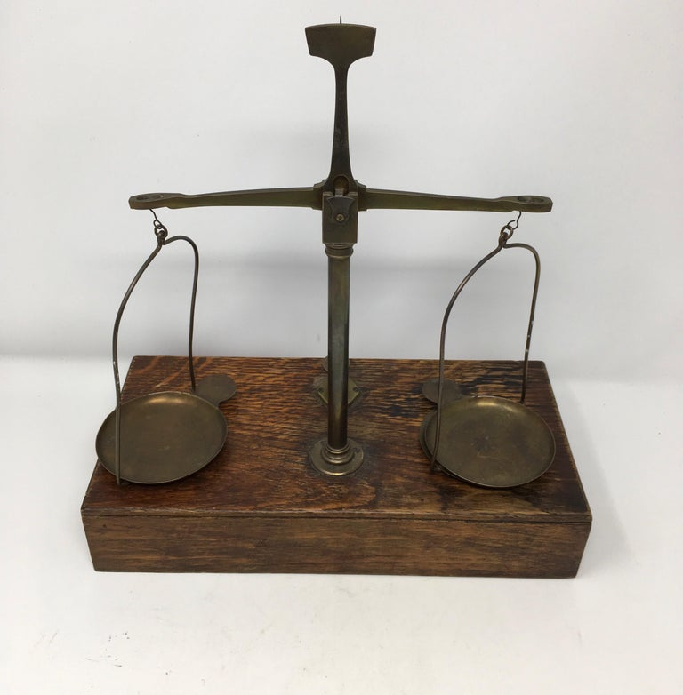 French Apothecary Brass Scales, circa 1800s 1