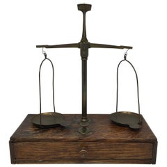 French Apothecary Brass Scales, circa 1800s