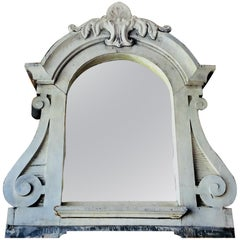 French Architectural Zinc Dormer Mirror from 19th Century