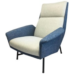 French Armchair by Claude Vassal Edited by Claude Delor, 1950s
