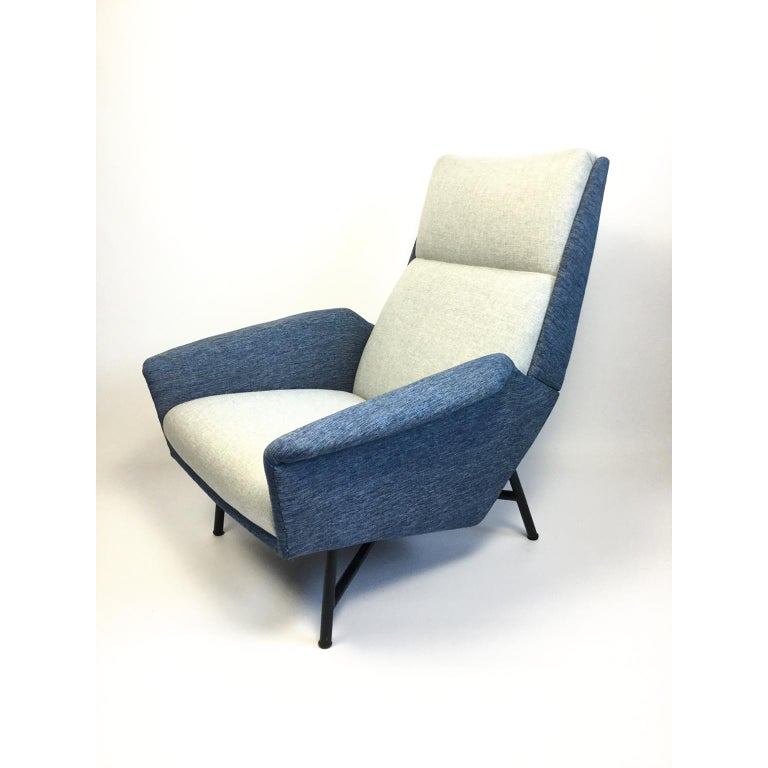 French Armchair by Claude Vassal Edited by Claude Delors, 1950s In Good Condition For Sale In London, GB
