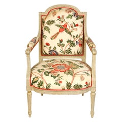 French Armchair in European Chintz Fabric
