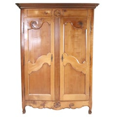 French Armoire, 18th Century Fruitwood