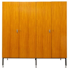 French Armoire Four Doors Wardrobe, 1960