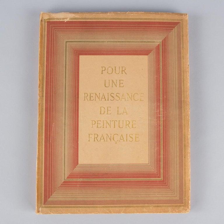 French Art Book Renaissance de la Peinture Francaise, 1946 In Good Condition For Sale In Austin, TX