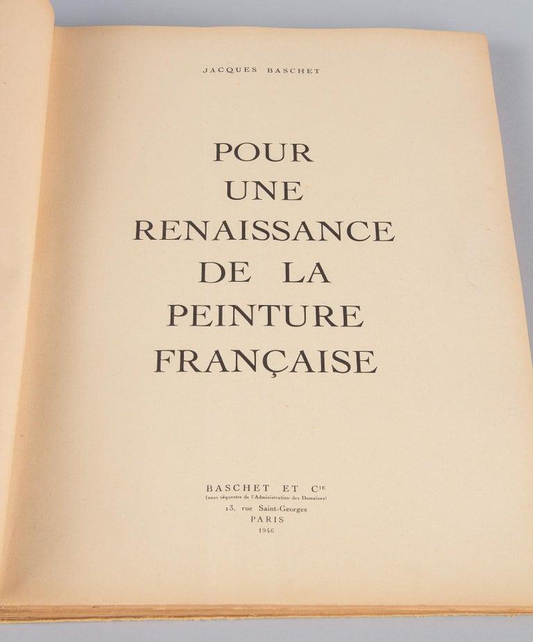 Mid-20th Century French Art Book Renaissance de la Peinture Francaise, 1946 For Sale