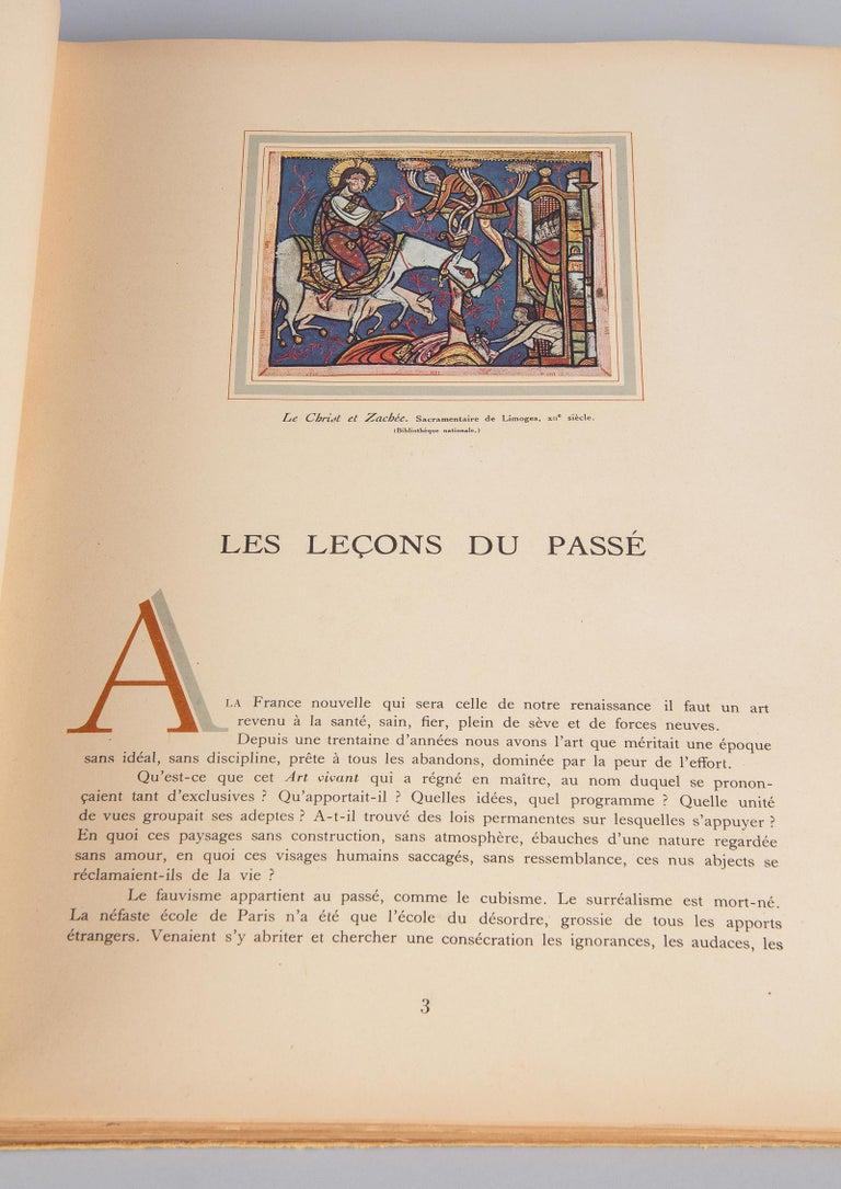 Paper French Art Book Renaissance de la Peinture Francaise, 1946 For Sale