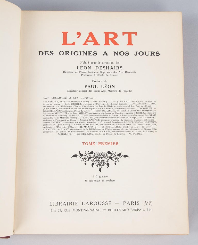 French Art Books, 2 Volumes, 1932 For Sale 5