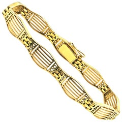 French Art Deco 18 Karat Gold Bracelet