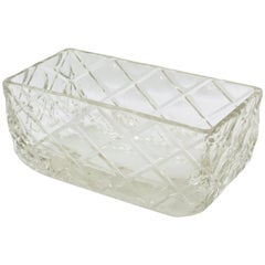 French Art Deco 1930s Large Crystal Centerpiece Bowl Vase