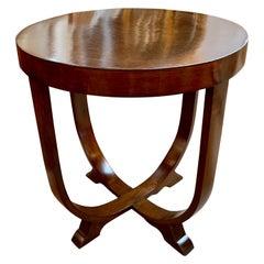 French Art Deco Alderwood Side Table
