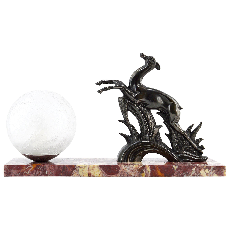 Deco Art Table French Antelope Lamp1930s 1JcKlFT