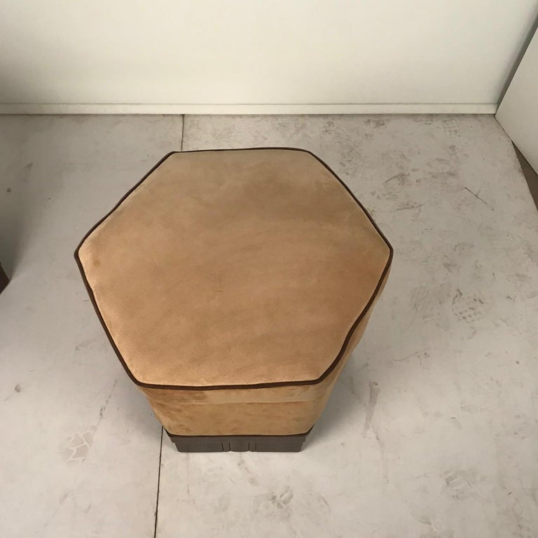 French Art Deco Armchair and Ottoman by Saddier For Sale 8