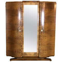 French Art Deco Armoire or Wardrobe