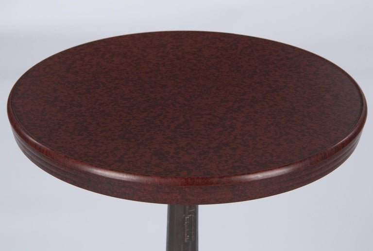French Art Deco Bakelite and Iron Bistro Table by Fischel, 1930s In Good Condition For Sale In Austin, TX