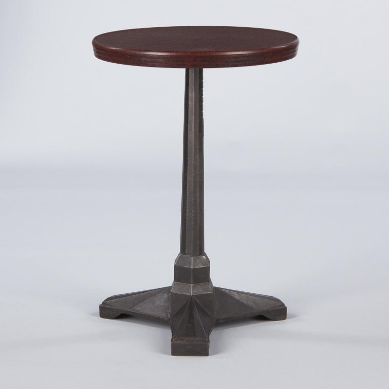 French Art Deco Bakelite and Iron Bistro Table by Fischel, 1930s For Sale 2