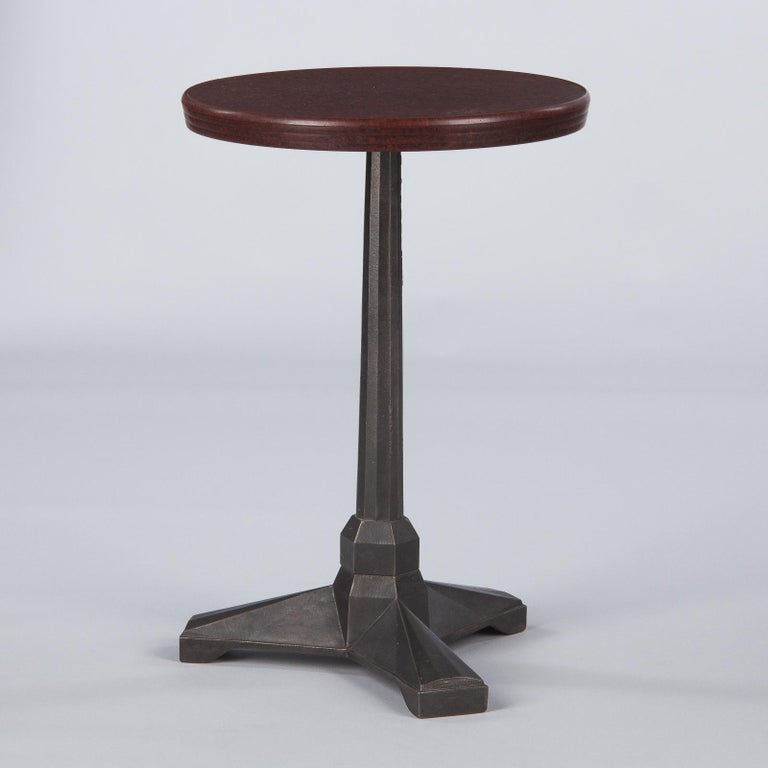 French Art Deco Bakelite and Iron Bistro Table by Fischel, 1930s For Sale 4