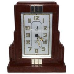 Französische Art Deco Bakelit Uhr von JAZ
