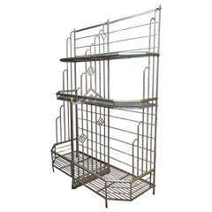 French Art Deco Bakers Rack Made in Leon France