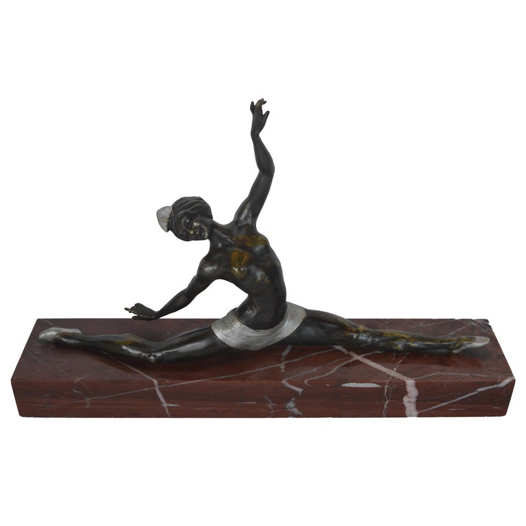 French Art Deco Ballerina by Marcel Guillemard For Sale