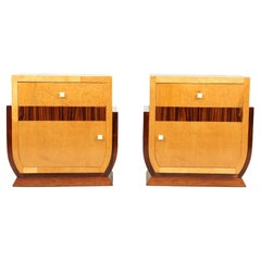 French Art Deco Bedside Cabinets, c1930