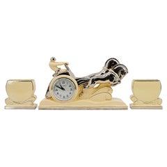 French Art Deco Ben Hur Mantel Clock, ca.1930