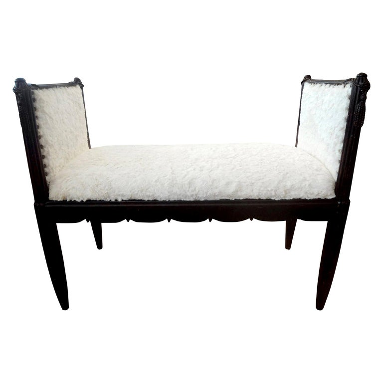 French Art Deco Bench Inspired by Dominique For Sale